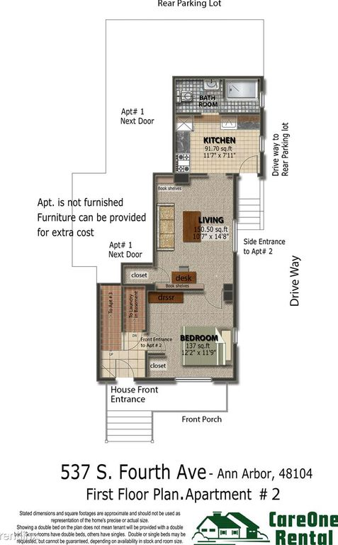 1 Bedroom 1 Bathroom Apartment for rent at 537 S 4th Ave in Ann Arbor, MI