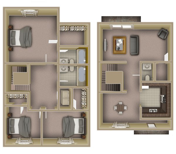 3 Bedrooms 2 Bathrooms Apartment for rent at The Lofts At Lake Ella in Tallahassee, FL
