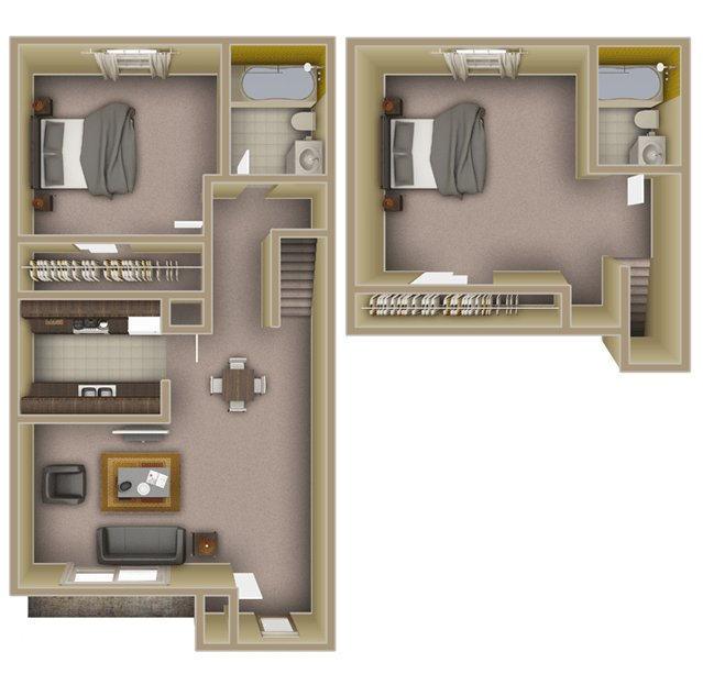 2 Bedrooms 2 Bathrooms Apartment for rent at The Lofts At Lake Ella in Tallahassee, FL