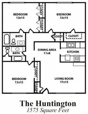 3 Bedrooms 2 Bathrooms Apartment for rent at Sierra Place Apartments in Atlanta, GA