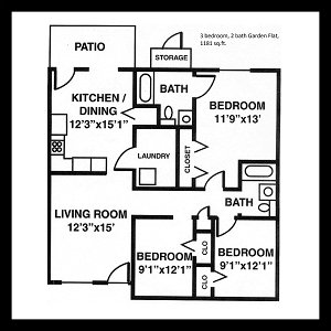 5 Bedrooms 2 Bathrooms Apartment for rent at River Trace Apartments in Murfreesboro, TN