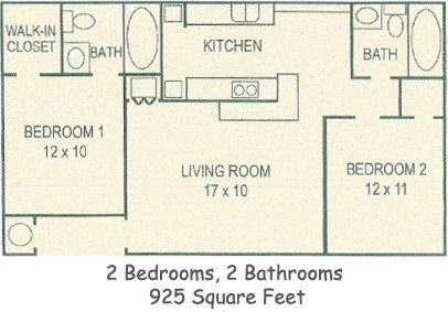 2 Bedrooms 2 Bathrooms Apartment for rent at Hillwood Apartments in Tallahassee, FL