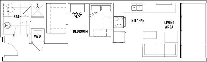 Studio 1 Bathroom Apartment for rent at The Hub Ann Arbor in Ann Arbor, MI