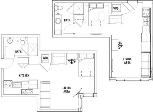 Studio 1 Bathroom Apartment for rent at Landmark Apartments in Ann Arbor, MI