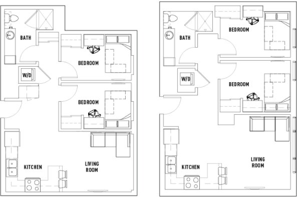 2 Bedrooms 1 Bathroom Apartment for rent at Landmark Apartments in Ann Arbor, MI
