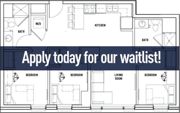 3 Bedrooms 2 Bathrooms Apartment for rent at Landmark Apartments in Ann Arbor, MI