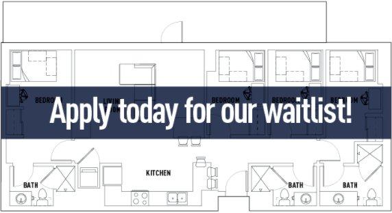 4 Bedrooms 3 Bathrooms Apartment for rent at Landmark Apartments in Ann Arbor, MI