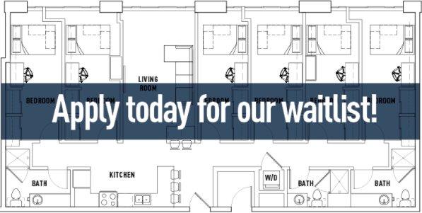 6 Bedrooms 3 Bathrooms Apartment for rent at Landmark Apartments in Ann Arbor, MI
