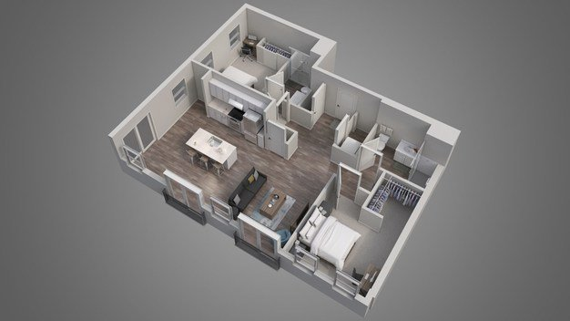 2 Bedrooms 2 Bathrooms Apartment for rent at Luxe Belle in Colubus, OH