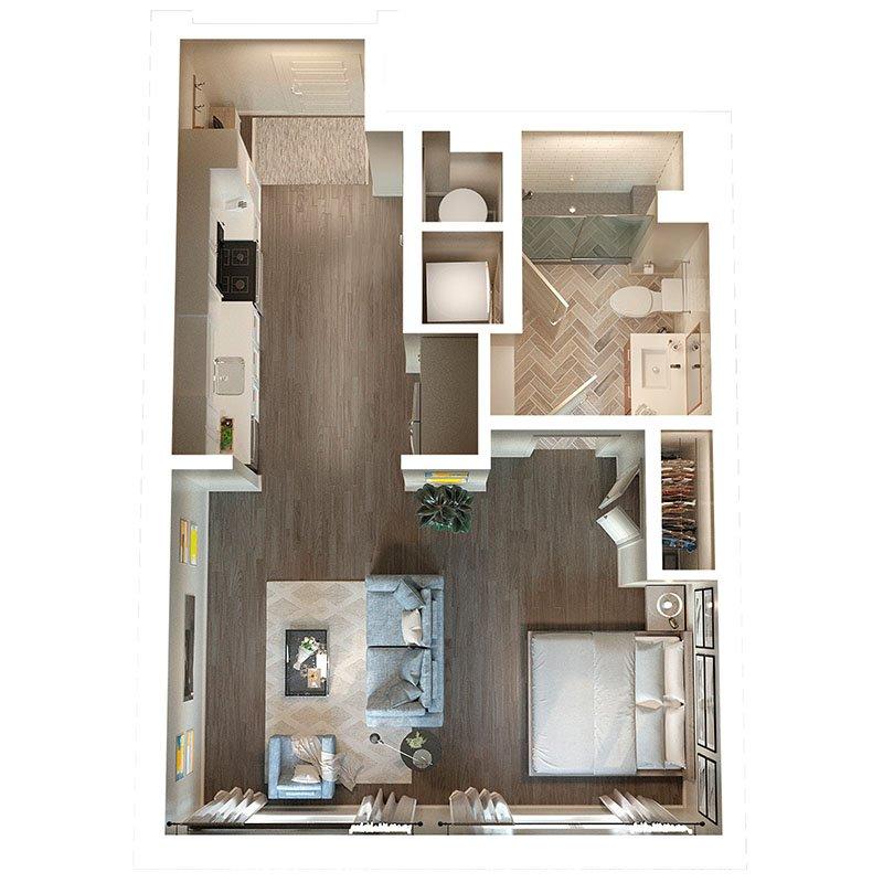 Studio 1 Bathroom Apartment for rent at The Irby in Atlanta, GA