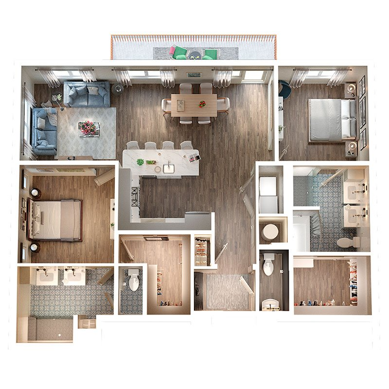 2 Bedrooms 2 Bathrooms Apartment for rent at The Irby in Atlanta, GA