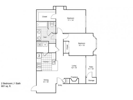 2 Bedrooms 1 Bathroom Apartment for rent at Heritage Creek in Denver, CO