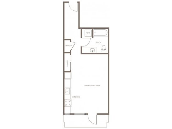 Studio 1 Bathroom Apartment for rent at Modera Goose Hollow in Portland, OR