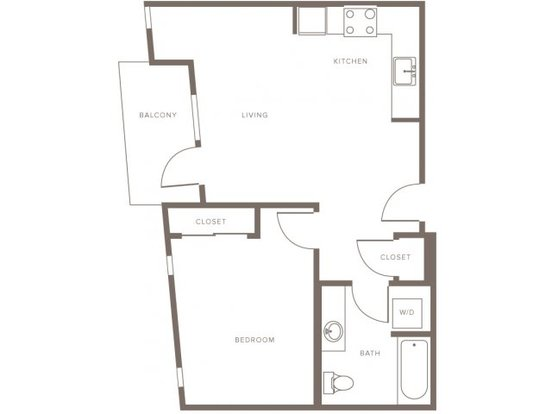1 Bedroom 1 Bathroom Apartment for rent at Modera Goose Hollow in Portland, OR