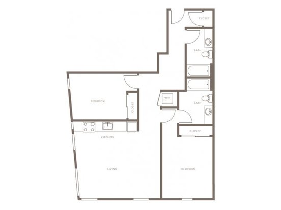 2 Bedrooms 2 Bathrooms Apartment for rent at Modera Goose Hollow in Portland, OR