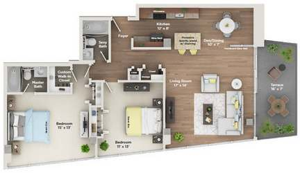 2 Bedrooms 2 Bathrooms Apartment for rent at 800 Tower City Club Apartments in Louisville, KY