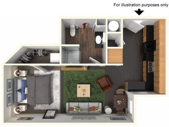 Studio 1 Bathroom Apartment for rent at The Gates in East Lansing, MI