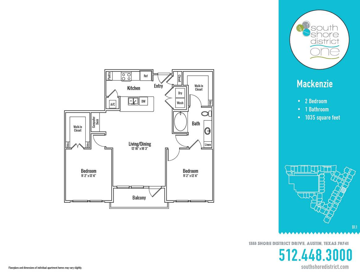 2 Bedrooms 1 Bathroom Apartment for rent at South Shore District in Austin, TX