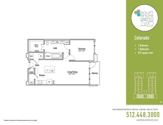 1 Bedroom 1 Bathroom Apartment for rent at South Shore District in Austin, TX