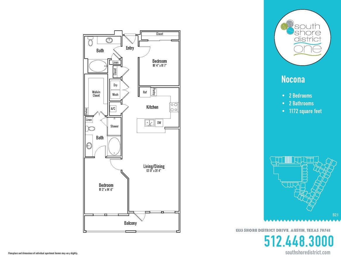 2 Bedrooms 2 Bathrooms Apartment for rent at South Shore District in Austin, TX