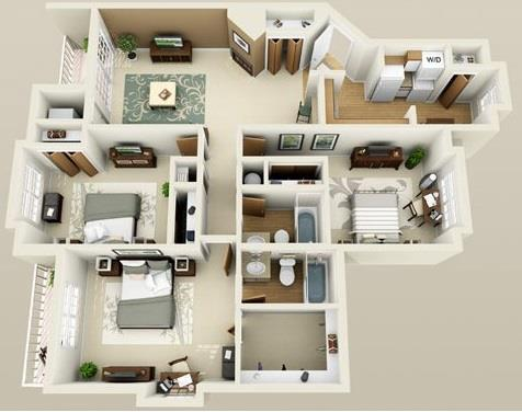 3 Bedrooms 2 Bathrooms Apartment for rent at The Ponds At Georgetown in Ann Arbor, MI