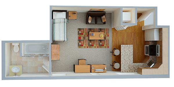 Studio 1 Bathroom Apartment for rent at Collegiate Village Of Buffalo in Buffalo, NY