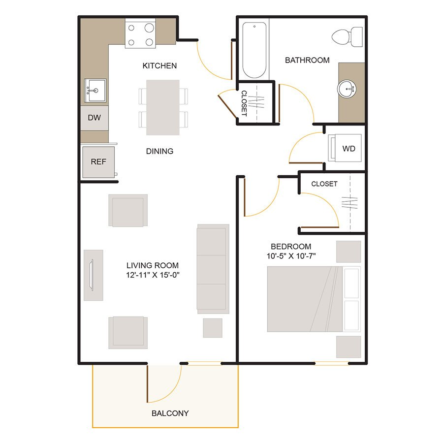 1 Bedroom 1 Bathroom Apartment for rent at Foundry Commons in San Jose, CA