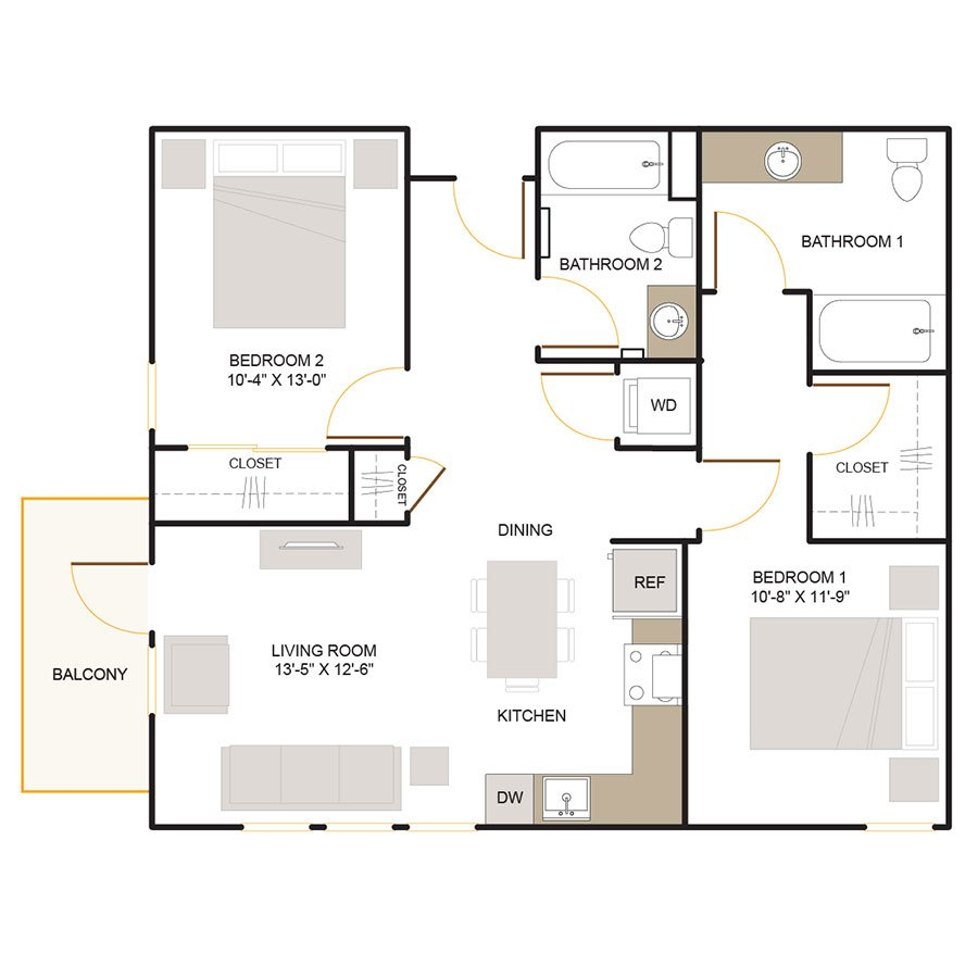 2 Bedrooms 2 Bathrooms Apartment for rent at Foundry Commons in San Jose, CA