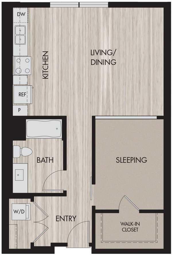 Studio 1 Bathroom Apartment for rent at The Pierce in San Jose, CA