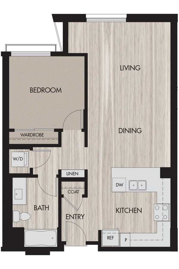 1 Bedroom 1 Bathroom Apartment for rent at The Pierce in San Jose, CA