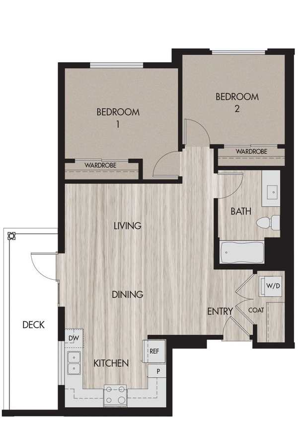 2 Bedrooms 1 Bathroom Apartment for rent at The Pierce in San Jose, CA