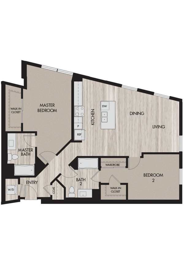 2 Bedrooms 2 Bathrooms Apartment for rent at The Pierce in San Jose, CA