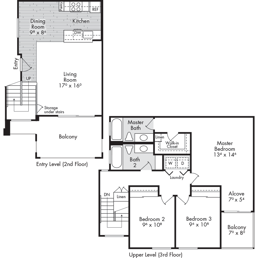 3 Bedrooms 2 Bathrooms Apartment for rent at The Woods Apartments in San Jose, CA