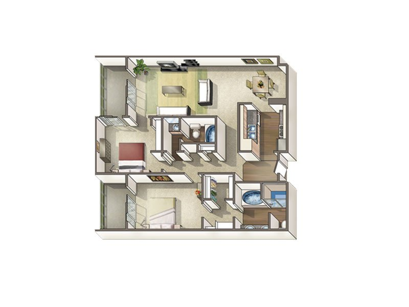 2 Bedrooms 2 Bathrooms Apartment for rent at Axis At Nine Mile Station in Denver, CO