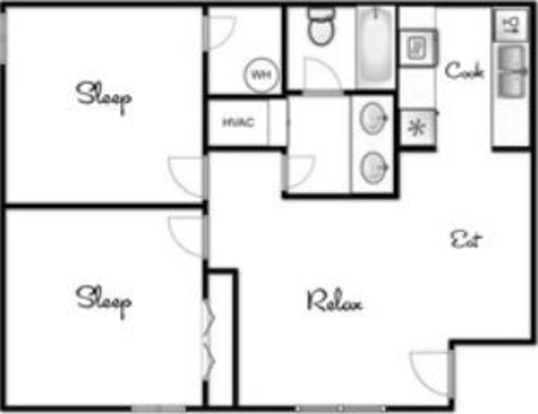 2 Bedrooms 1 Bathroom Apartment for rent at The Sidney in Austin, TX