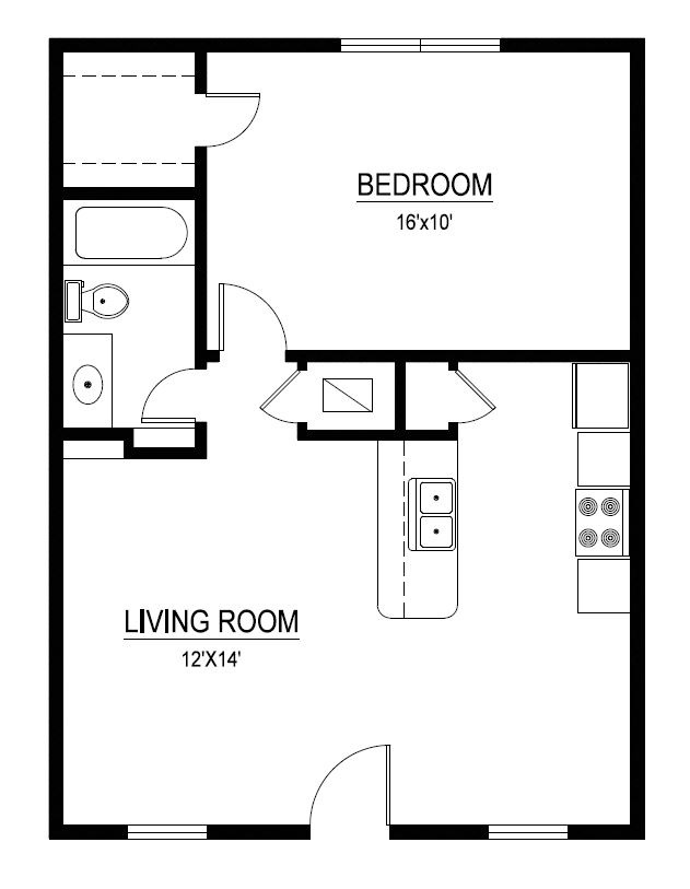 1 Bedroom 1 Bathroom Apartment for rent at The Duet On 39th in Austin, TX