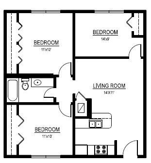 3 Bedrooms 1 Bathroom Apartment for rent at The Duet On 39th in Austin, TX