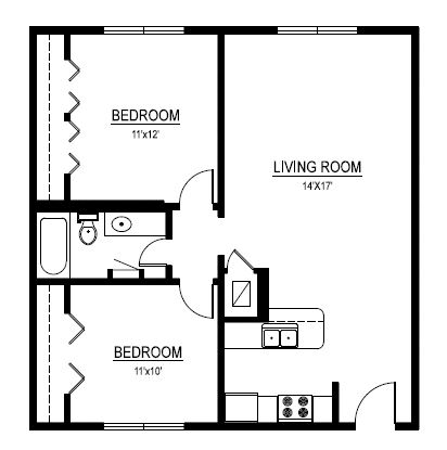 2 Bedrooms 1 Bathroom Apartment for rent at The Duet On 39th in Austin, TX
