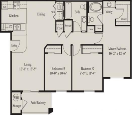 3 Bedrooms 2 Bathrooms Apartment for rent at The Ridge At Clear Creek in Flagstaff, AZ