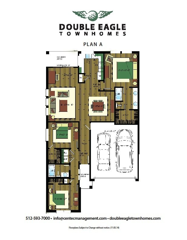3 Bedrooms 2 Bathrooms Apartment for rent at Double Eagle Townhomes in Hutto, TX