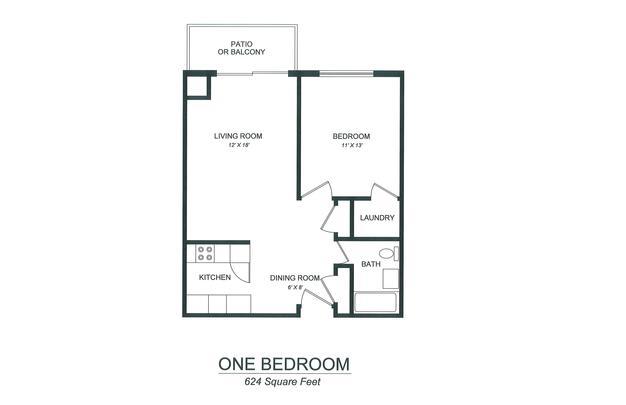 1 Bedroom 1 Bathroom Apartment for rent at Lake View Apartments in Kalamazoo, MI