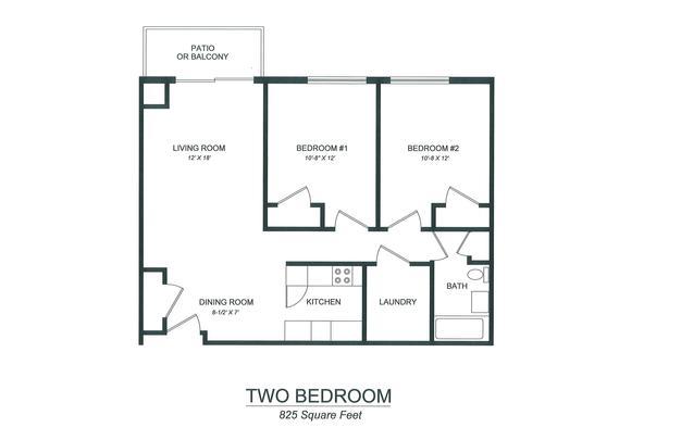 2 Bedrooms 1 Bathroom Apartment for rent at Lake View Apartments in Kalamazoo, MI