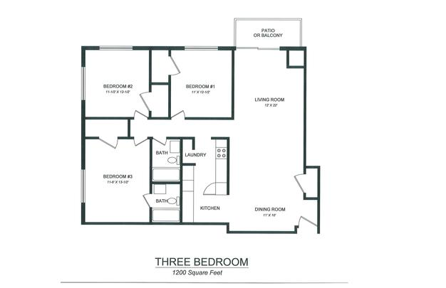 3 Bedrooms 2 Bathrooms Apartment for rent at Lake View Apartments in Kalamazoo, MI