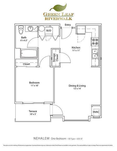 1 Bedroom 1 Bathroom Apartment for rent at Green Leaf Riverwalk in Eugene, OR