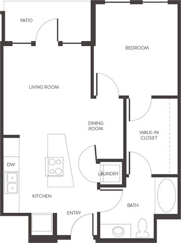 1 Bedroom 1 Bathroom Apartment for rent at Alta City House in Denver, CO
