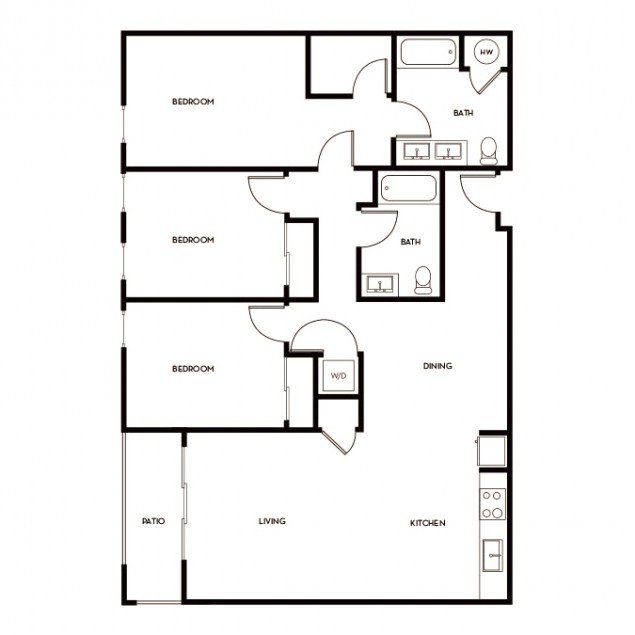 3 Bedrooms 2 Bathrooms Apartment for rent at Gunbarrel Center in Boulder, CO