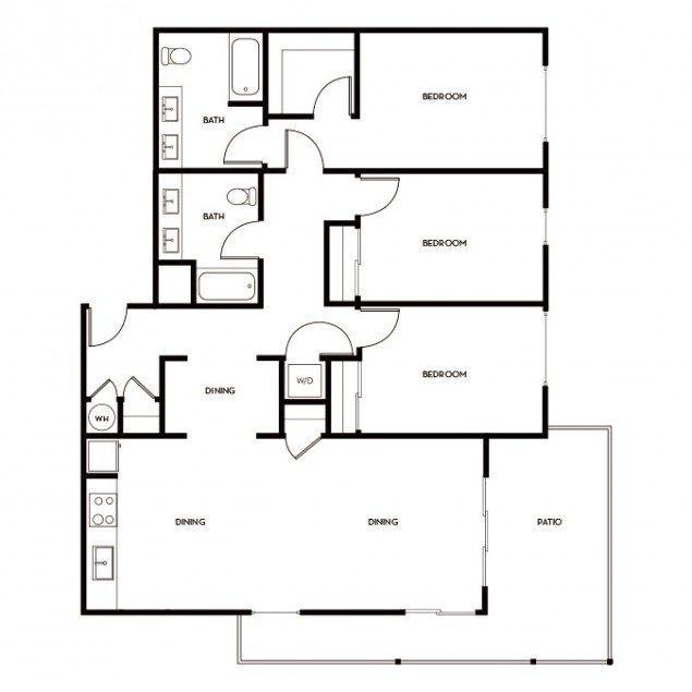 3 Bedrooms 2 Bathrooms Apartment for rent at Gunbarrel Center in Boulder, CO