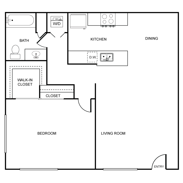 1 Bedroom 1 Bathroom Apartment for rent at Artesia El Cajon in El Cajon, CA