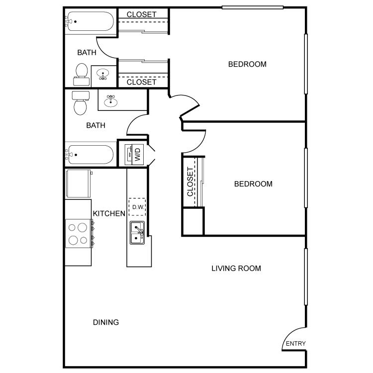 2 Bedrooms 2 Bathrooms Apartment for rent at Artesia El Cajon in El Cajon, CA
