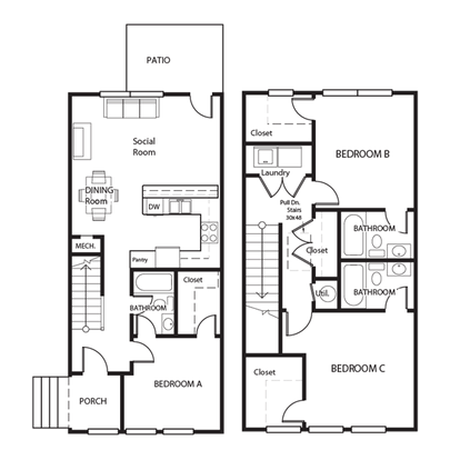 4 Bedrooms 4+ Bathrooms Apartment for rent at The Retreat At Corvallis in Corvallis, OR